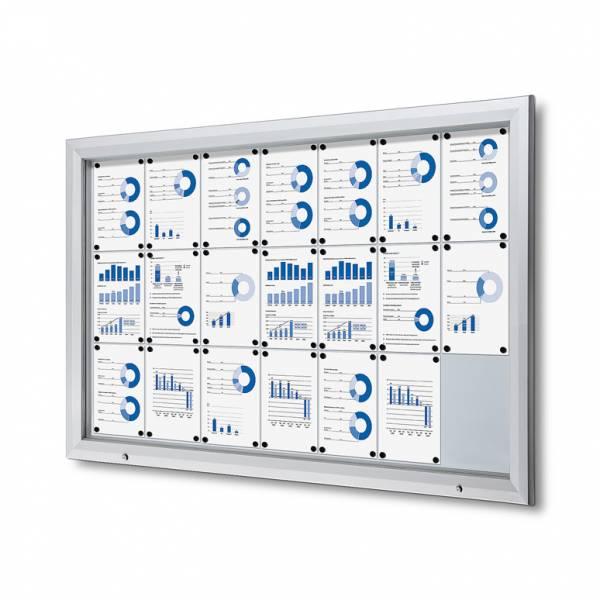 Lockable Notice Board 21xA4