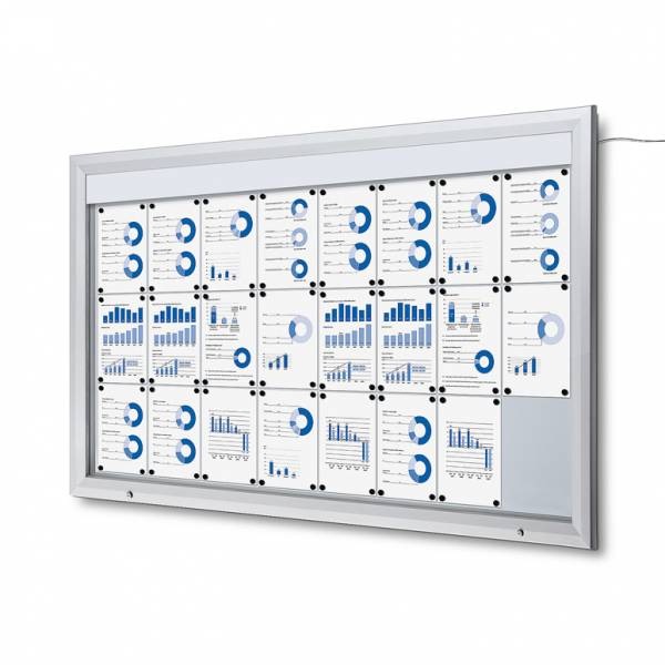 Outdoor Noticeboard LED  (24xA4)