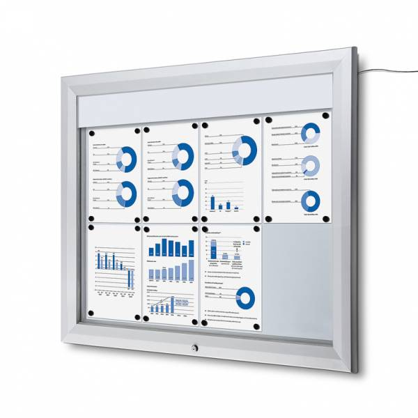 Outdoor Noticeboard LED  (8xA4)