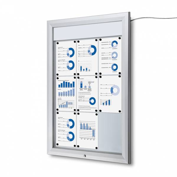 Outdoor Noticeboard LED  (9xA4)