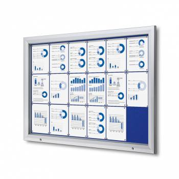 18xA4 BLUE Lockable Outdoor Felt Noticeboard