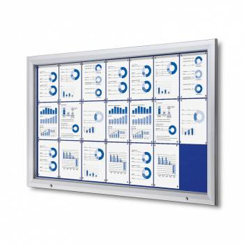 21xA4 BLUE Lockable Outdoor Felt Noticeboard