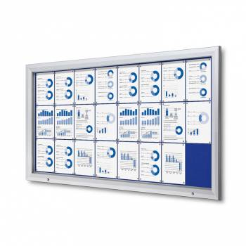 24xA4 BLUE Lockable Outdoor Felt Noticeboard