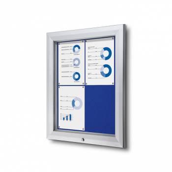 4xA4 BLUE Lockable Outdoor Felt Noticeboard