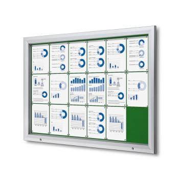 18xA4 GREEN Lockable Outdoor Felt Noticeboard