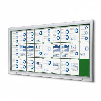 27xA4 GREEN Lockable Outdoor Felt Noticeboard
