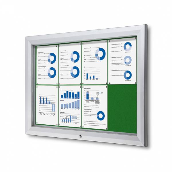 Outdoor Felt Noticeboard  - Green (8xA4)