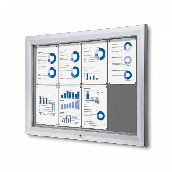 Outdoor Felt Noticeboard  - Grey (8xA4)