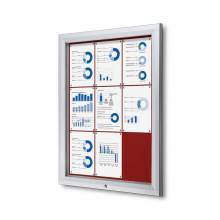 Outdoor Felt Noticeboard  - Red (9xA4)