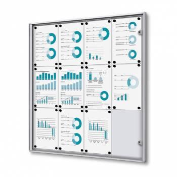 12xA4 Indoor Lockable Noticeboard Economy, Fire Rated