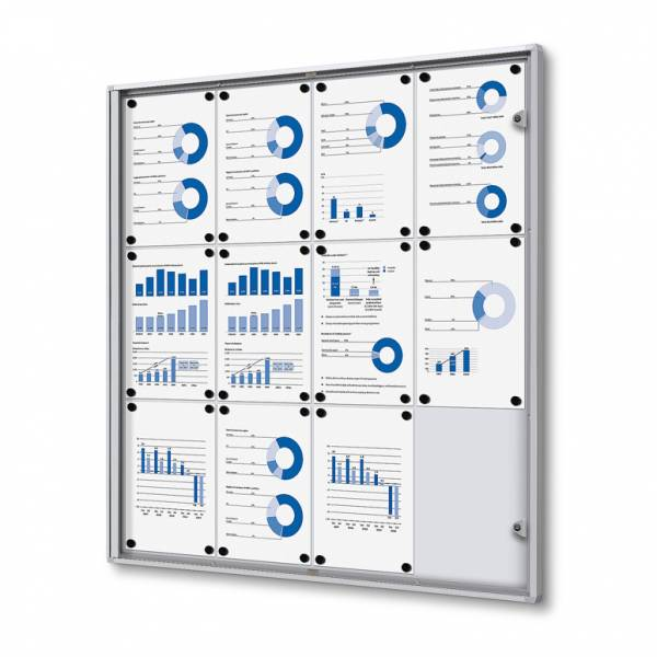 12xA4 Indoor Lockable Noticeboard Economy