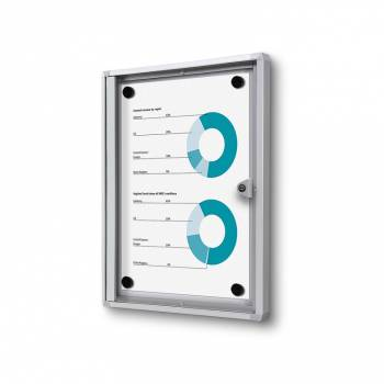 1xA4 Indoor Lockable Noticeboard Economy, Fire Rated