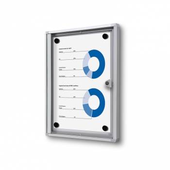 1xA4 Indoor Lockable Noticeboard Economy