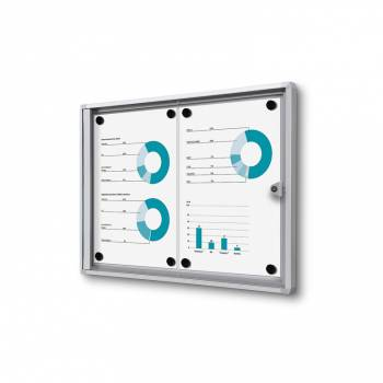 2xA4 Indoor Lockable Noticeboard Economy, Fire Rated