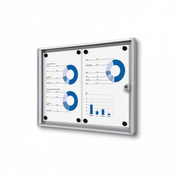 2xA4 Indoor Lockable Noticeboard Economy
