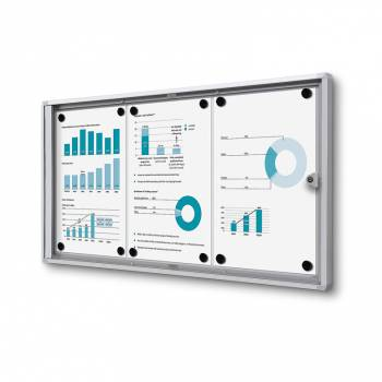 3xA4 Indoor Lockable Noticeboard Economy, Fire Rated