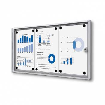 3xA4 Indoor Lockable Noticeboard Economy