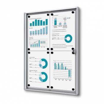 4xA4 Indoor Lockable Noticeboard Economy, Fire Rated