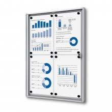 Indoor Lockable Economy Noticeboard - Dry Wipe