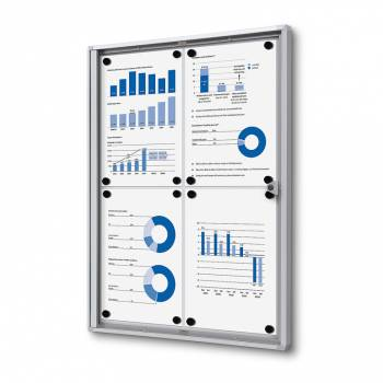Indoor Lockable Economy Noticeboard - Dry Wipe