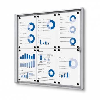 6xA4 Indoor Lockable Noticeboard Economy