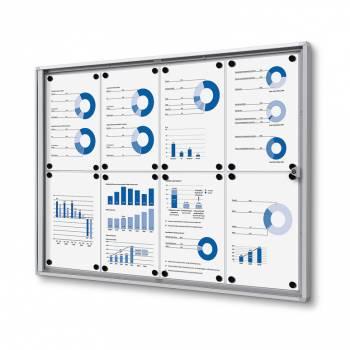 8xA4 Indoor Lockable Noticeboard Economy