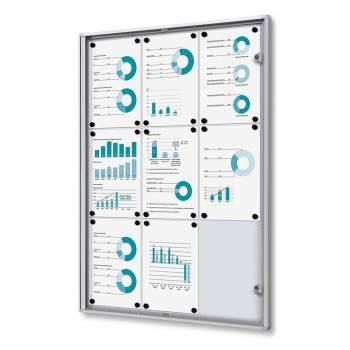 9xA4 Indoor Lockable Noticeboard Economy, Fire Rated