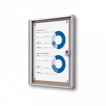 1xA4 Indoor Lockable Cork Noticeboard