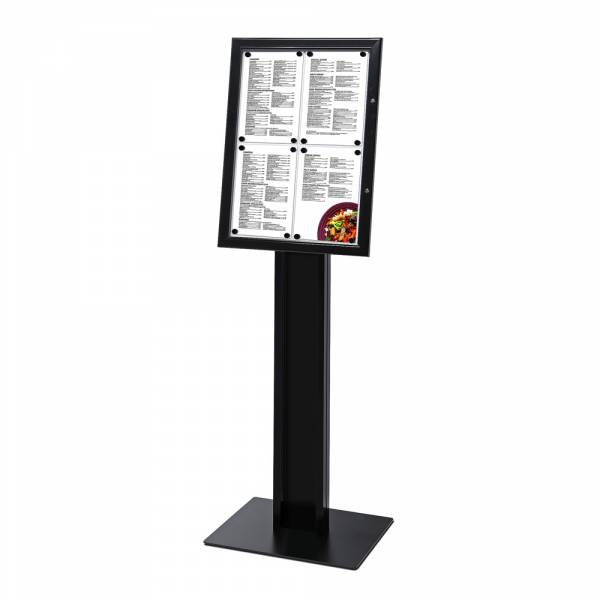 BLACK Freestanding 4xA4 Menu Display Case