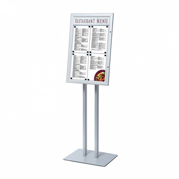 Tall Indoor Freestanding LED illuminated Menu Case