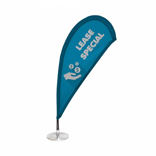 Tear Drop Flag MICRO single sided, 158x406mm