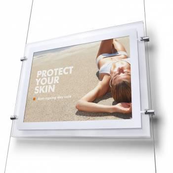 LED Landscape Acrylic Poster Pockets A3