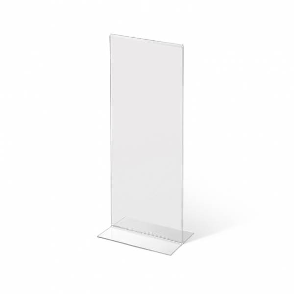 Portrait Acrylic T Stand Menu Stand