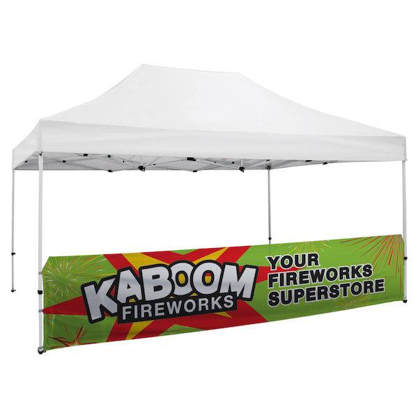 Tent 3x4,5 Half wall Full color double sided 300x600D