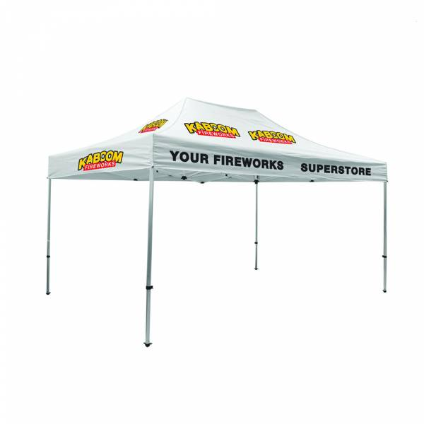 Tent 3x4,5 + bag + stake kit Canopy full color B1