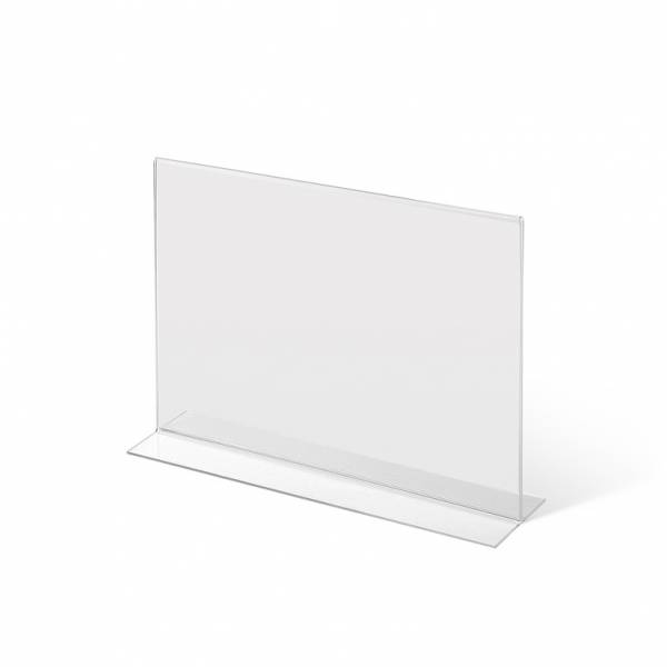 A4 Landscape acrylic T Stand Menu Holder