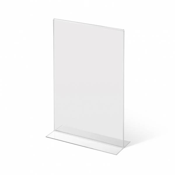 A4 Portrait acrylic T Stand Menu Holder