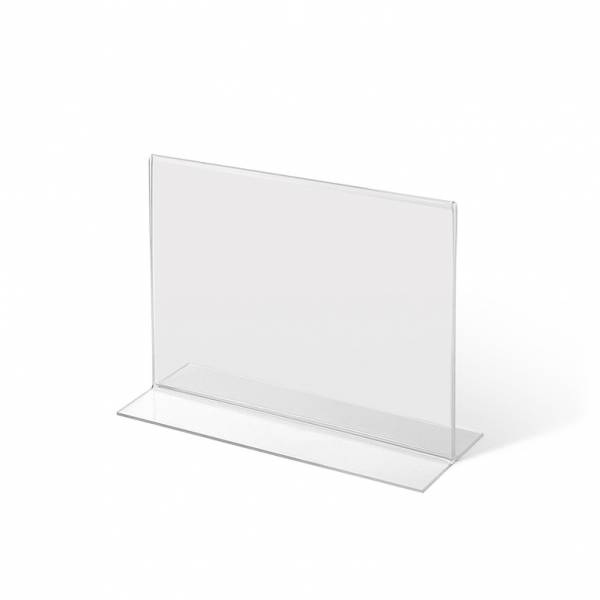A5 Landscape acrylic T Stand Menu Holder