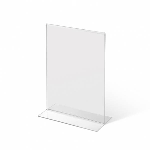 A5 Portrait acrylic T Stand Menu Holder
