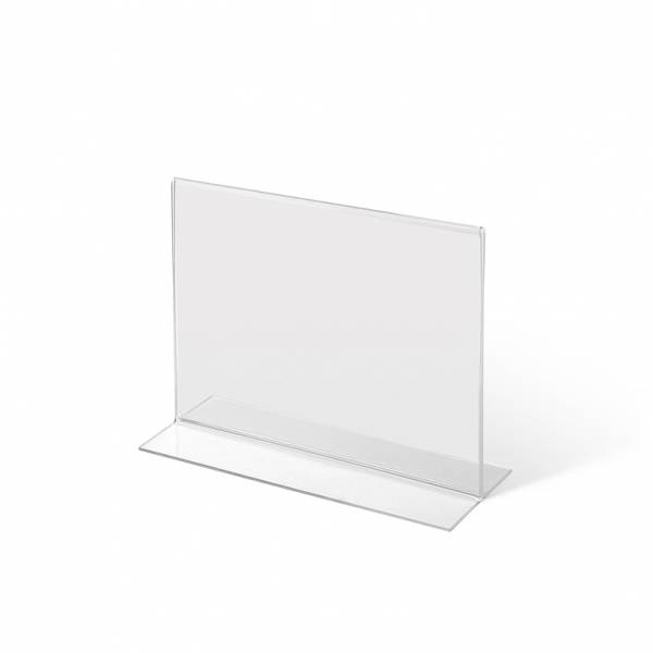 A6 Landscape acrylic T Stand Menu Holder