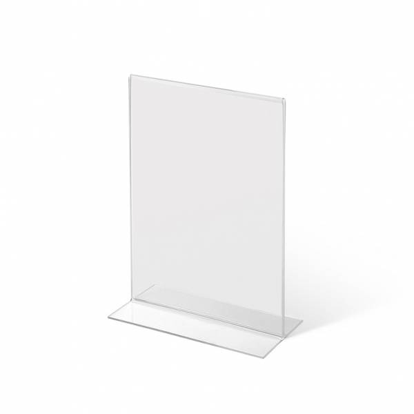 A6 Portrait acrylic T Stand Menu Holder