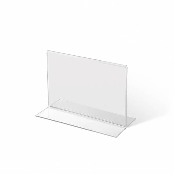 A7 Landscape acrylic T Stand Menu Holder