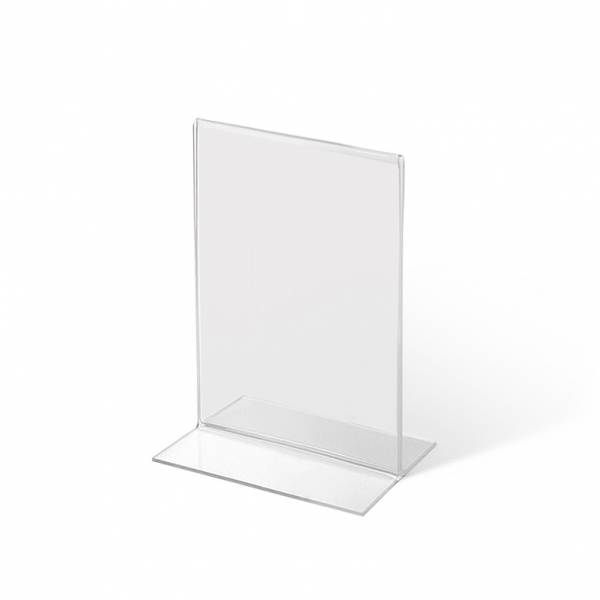 A7 Portrait acrylic T Stand Menu Holder