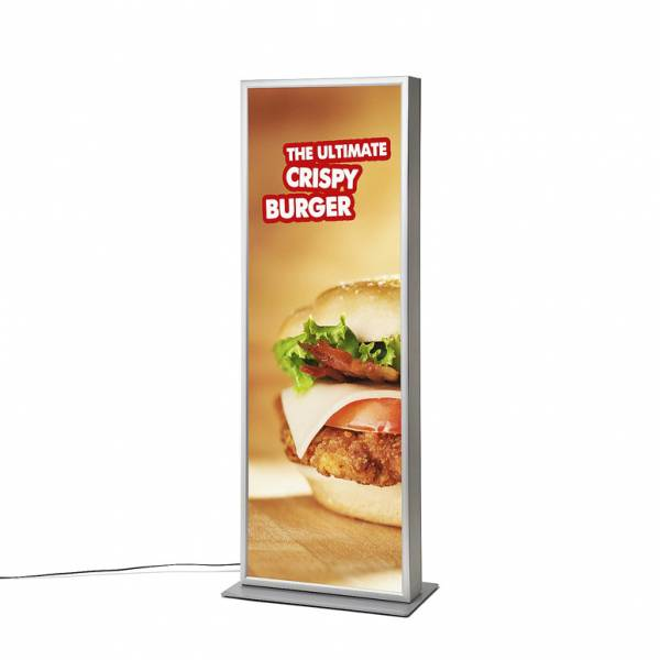 LED Double-sided Light Box Totem Flat Freestanding Design
