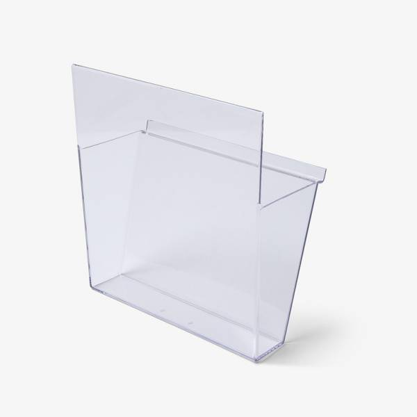 Separate plastic pockets for brochure stand