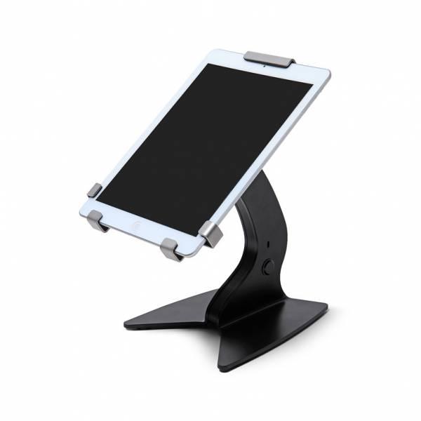 "TRIGRIP 13"" Counter Fixed Tablet Holder Adjustable angle, Black"