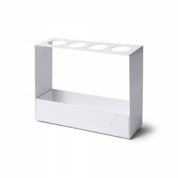 Steel Umbrella Mini Stand in white