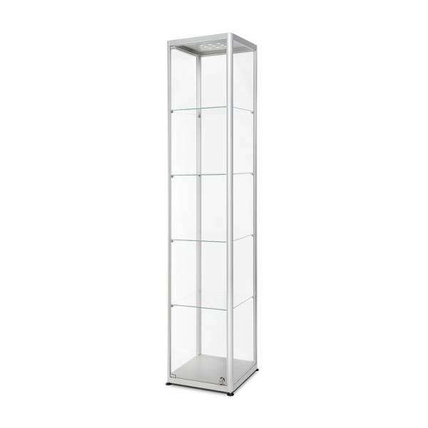 LED illuminated Glass Showcase 400x400x2000mm