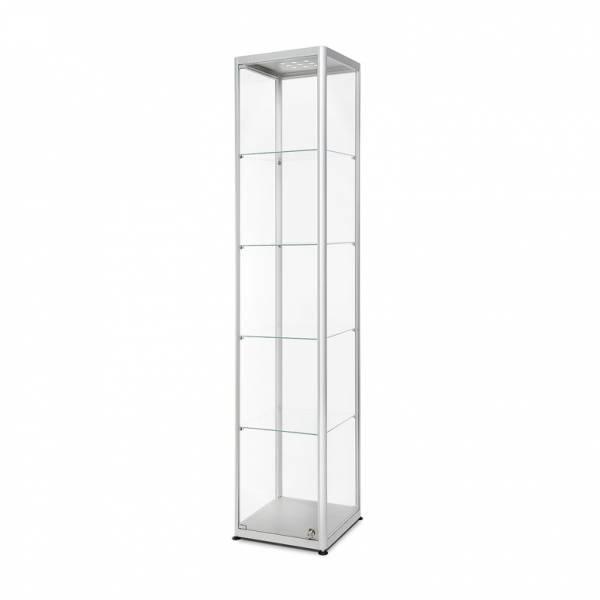 LED illuminated Glass Showcase 400x400x2000mm