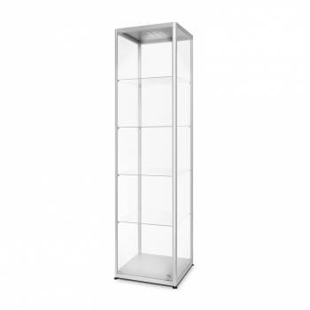 LED illuminated Glass Showcase 500x500x2000mm